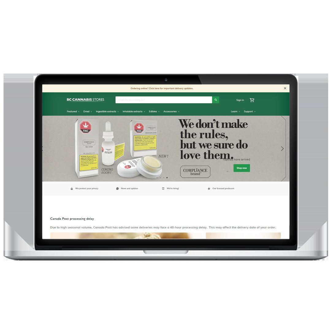 Brandolier Compliance Brand BC Cannabis Ad