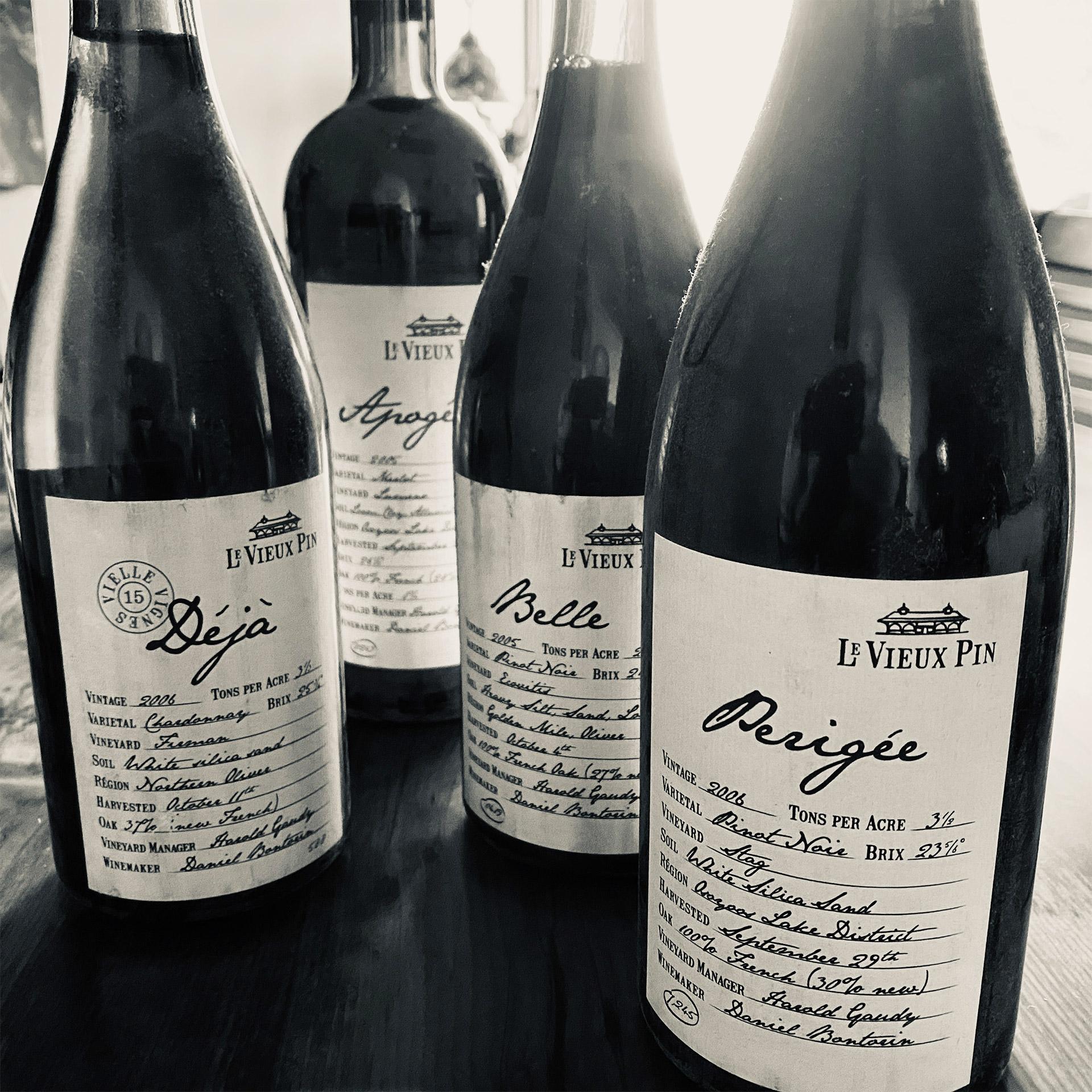 Brandolier Le Vieux Pin Wine Bottles