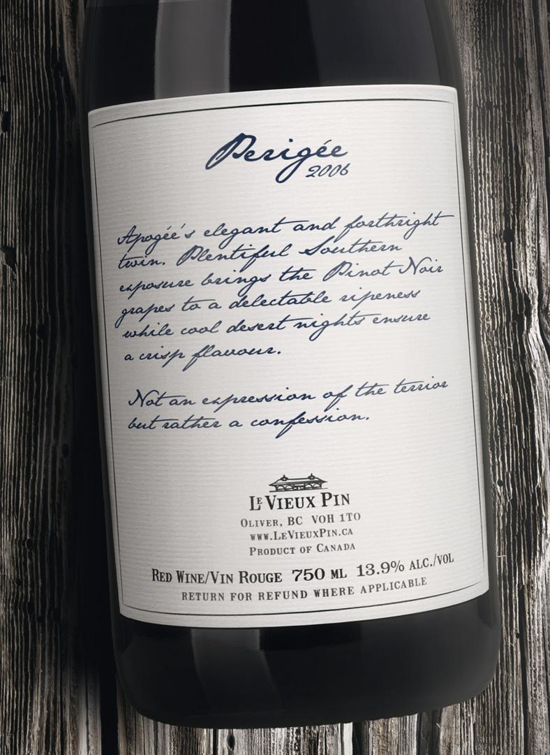 Brandolier Wine Vineyard Table Le Vieux Pin Perigee