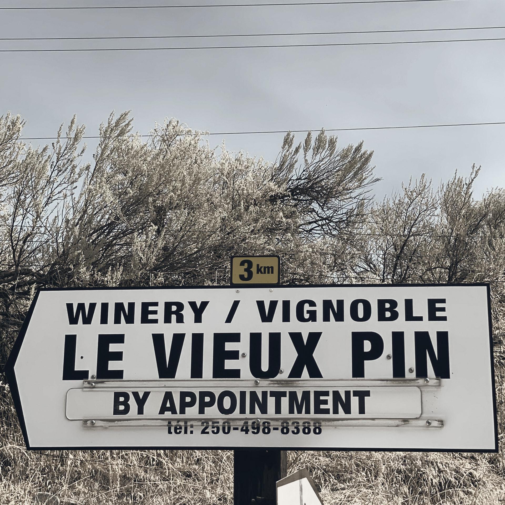Brandolier Le Vieux Pin Vineyard Roadsign