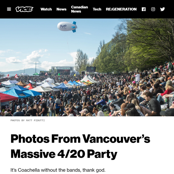 Flyte blimp over Vancouver 420 as seen on vice.com