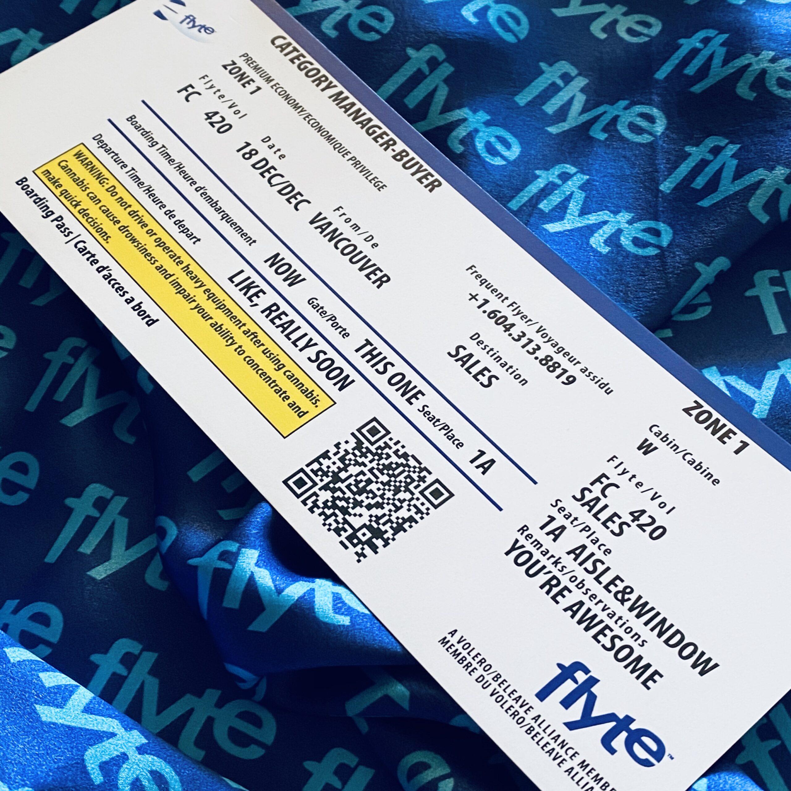 Flyte pre-promotion boarding pass