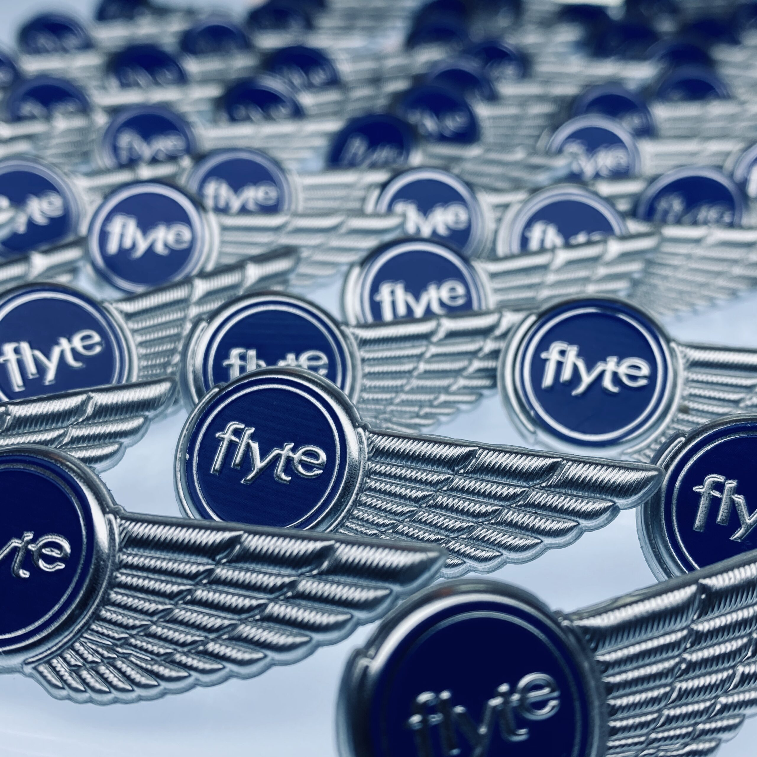 Flyte pins for event staff
